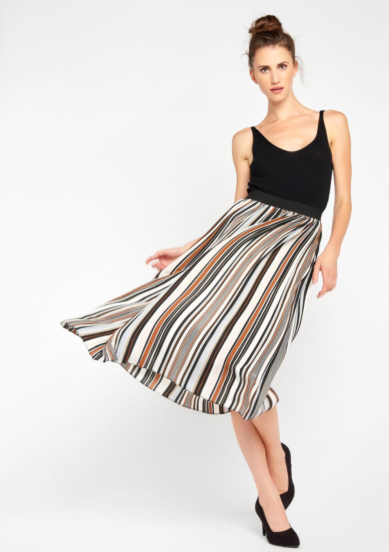 lange rok gestreept
