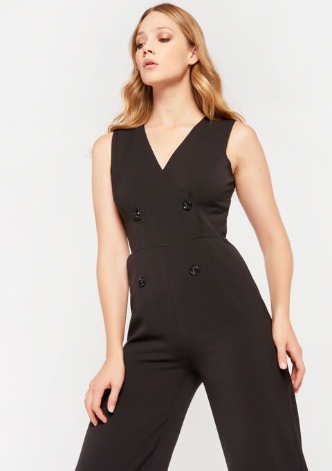 Jumpsuit met knopen - BLACK - 06003988_1119