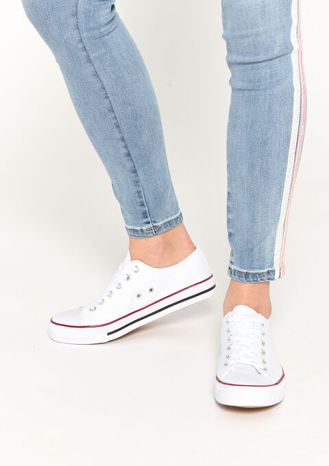 Canvas sneakers - WHITE - 13000475_0506