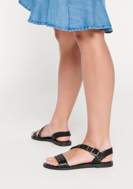 Sandales plates avec studs - BLACK - 13000556_1119