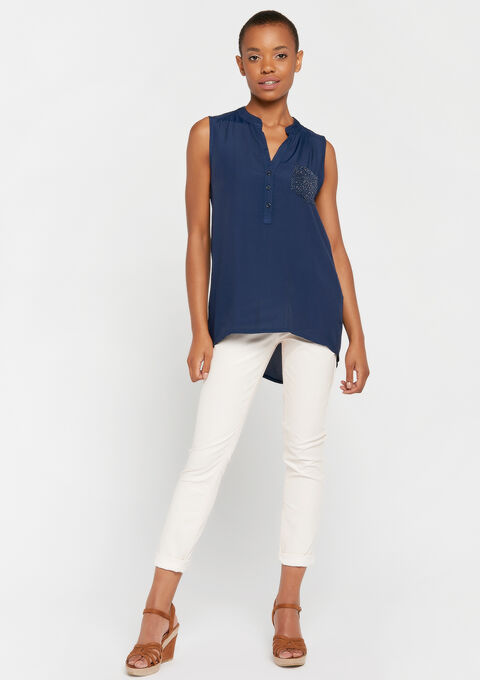 Blouse mouwloos - PEACOAT BLUE - 961479