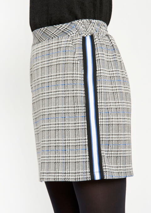 Minirok met Prince of Wales ruiten - BLUE QUARTZ - 07100139_2804