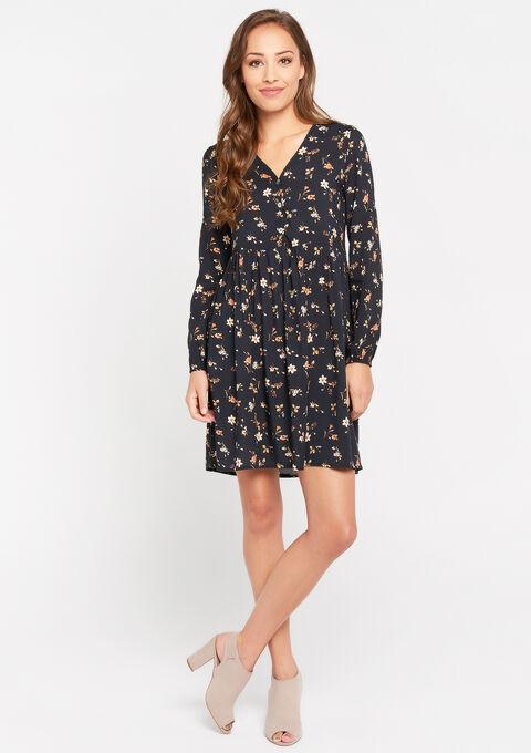 Robe imprimé fleurs - BLACK BEAUTY - 08101644_2600
