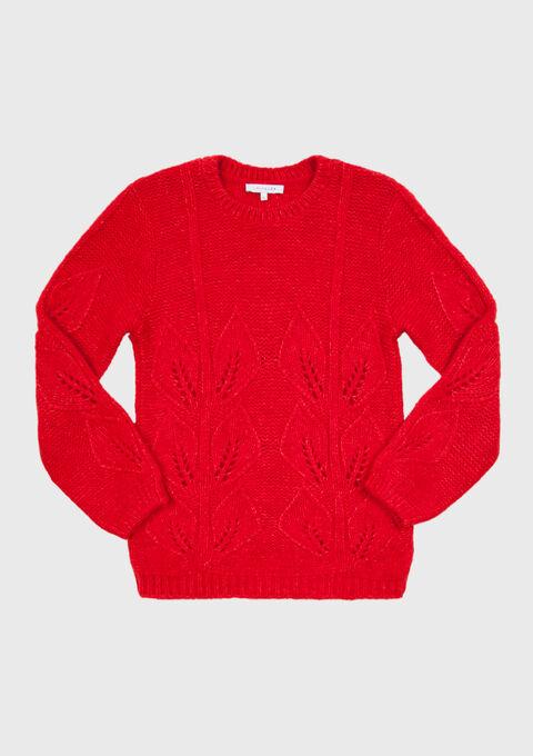 Romantische trui met ajour - RED PAVOT - 04004745_5307