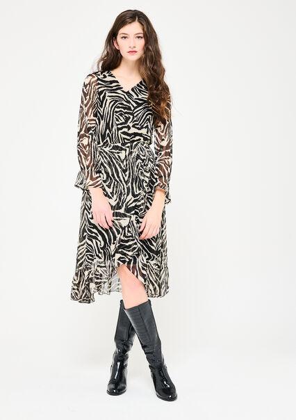Wikkeljurk met zebraprint - BLACK BEAUTY - 08601451_2600