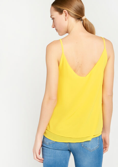 Losse top met spagettibandjes - DANDELION YELLOW - 923493