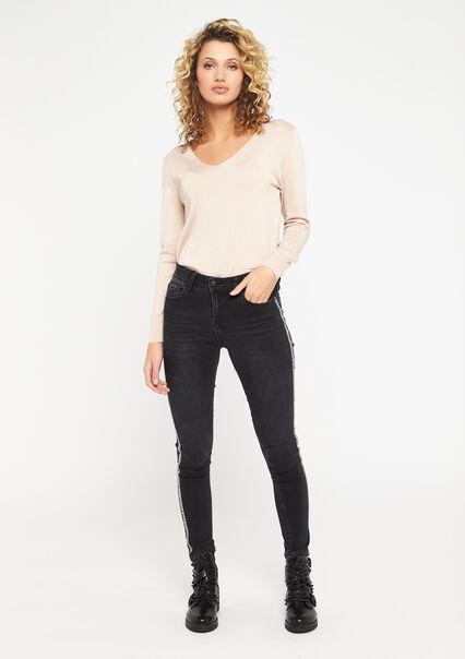 Jeans skinny avec bande latérale - BLACK - 22000185_1119