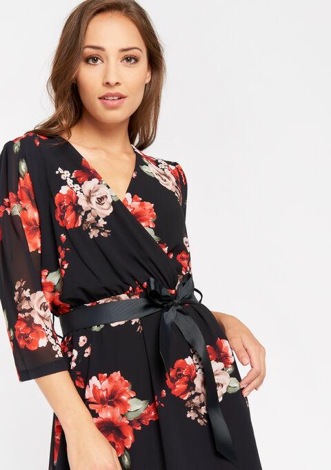 Robe imprimé fleurs - BLACK BEAUTY - 08101616_2600