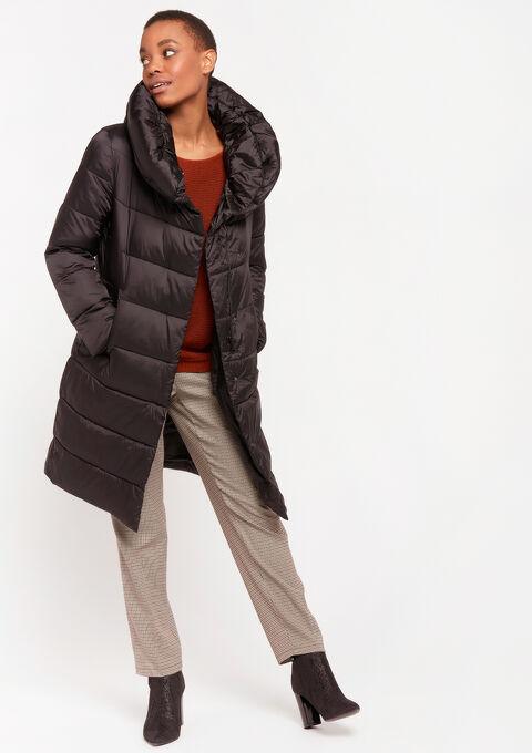 Long puffer coat - BLACK - 23000247_1119