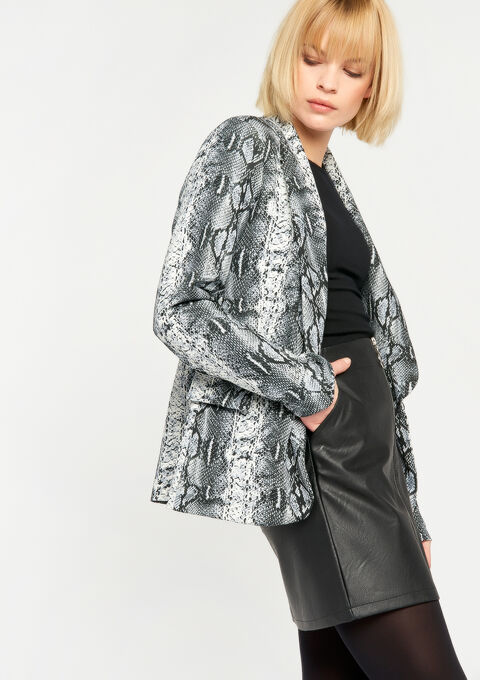 Blazer avec imprimé animal - GREY CLOUDY MEL - 928322