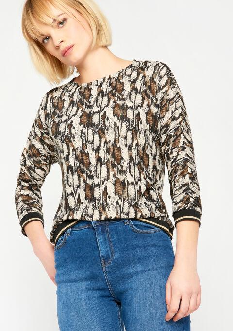 T-shirt met pythonprint - CAMEL TRUSH - 02300141_3808