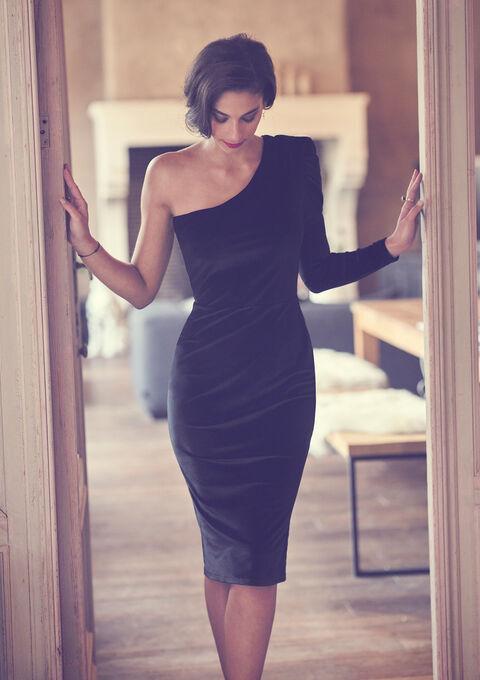 Robe de soirée en velours Tatiana Silva - BLACK - 08102064_1119
