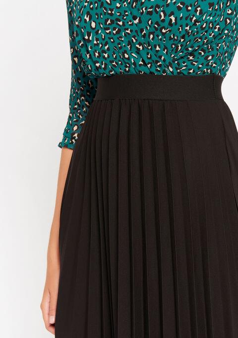 Cache-coeur jurk met plissé-rok - DEEP TEAL - 08102002_1592