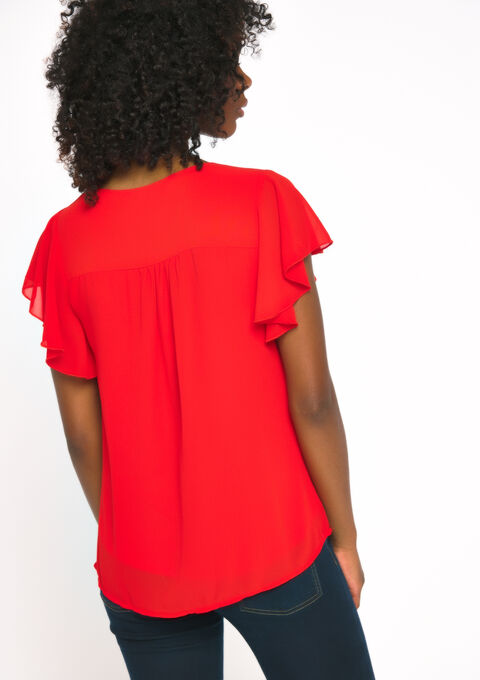 Blouse korte mouwen - FIERY RED - 938811