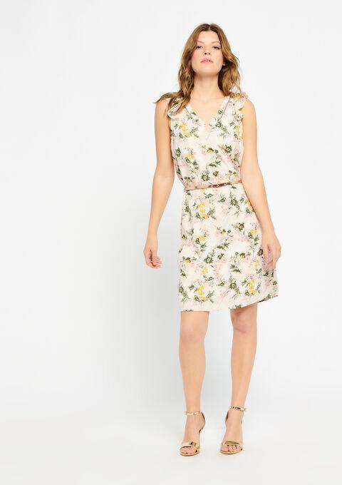 Mouwloze jurk met riem - PINK CALM - 08100451_4102