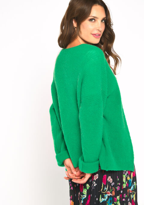 Mohair cardigan - GREEN GAZON - 04100663_4604