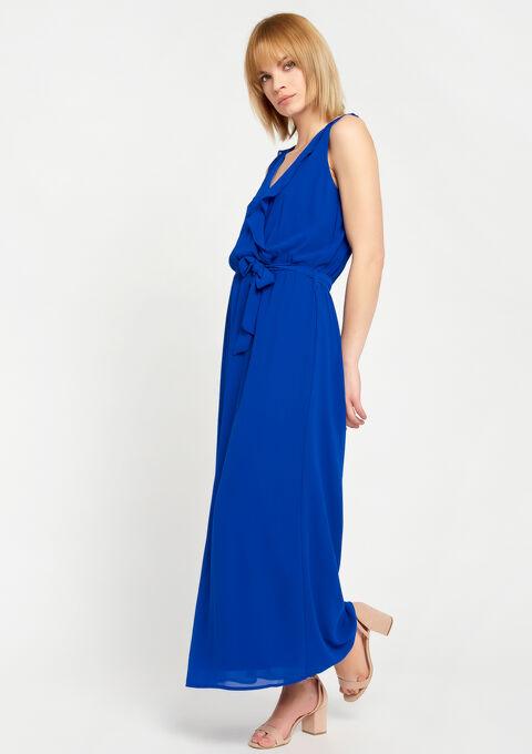 Lange  cache coeur jurk zonder mouwen - BLUE ELECTRICAL - 08600098_2805