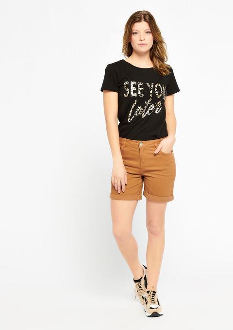 T-shirt met tekst - BLACK - 02300216_1119