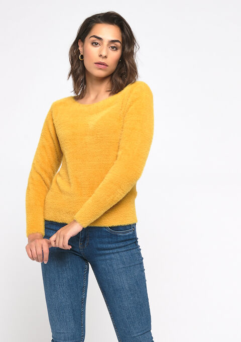 Pull fausse fourrure - YELLOW MINERAL - 04005047_1222