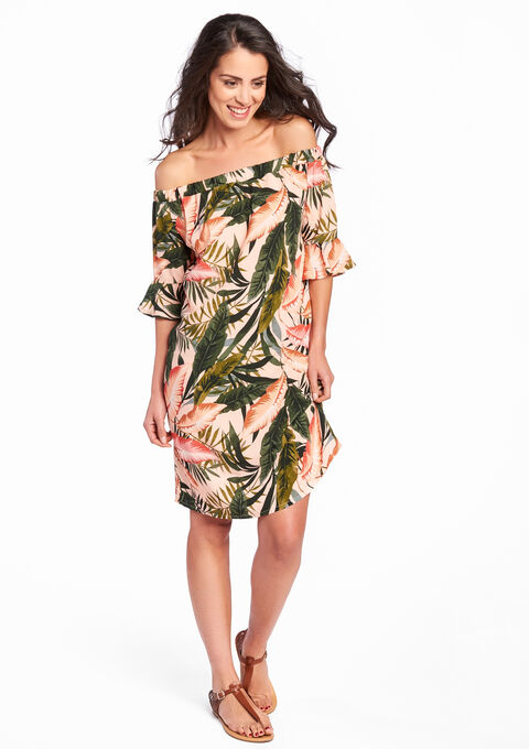 Robe avec imprimé floral - CORAL PINK - 08005912_1968