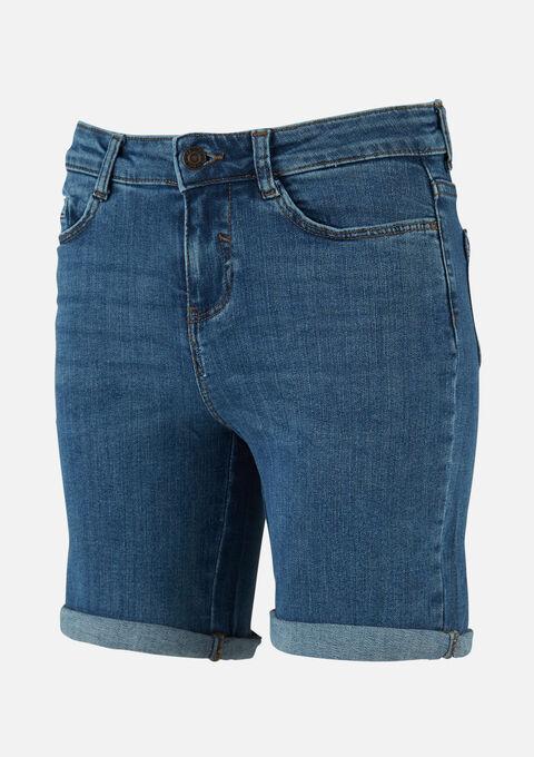 Halflange denim shorts - MEDIUM BLUE - 22000182_500