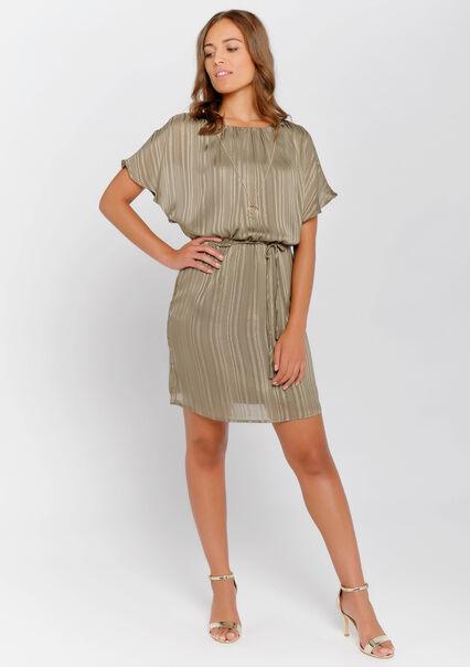 4f8df5c7d2c47c Mini jurk met halsketting - KHAKI DARKY - 08100703_4208 ...