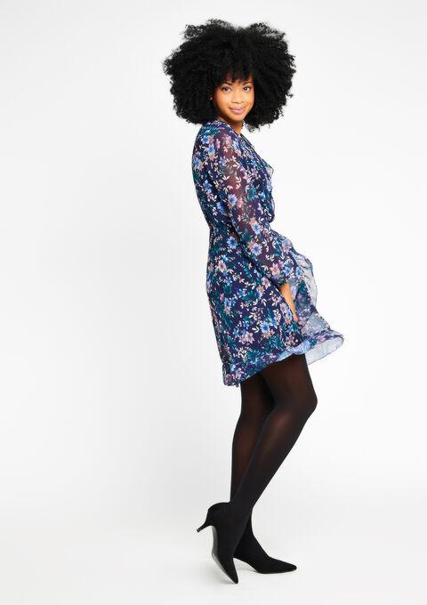 94c6874fbdf68e Cache coeur jurk met bloemenprint - NAVY PAPER - 08100232 2708