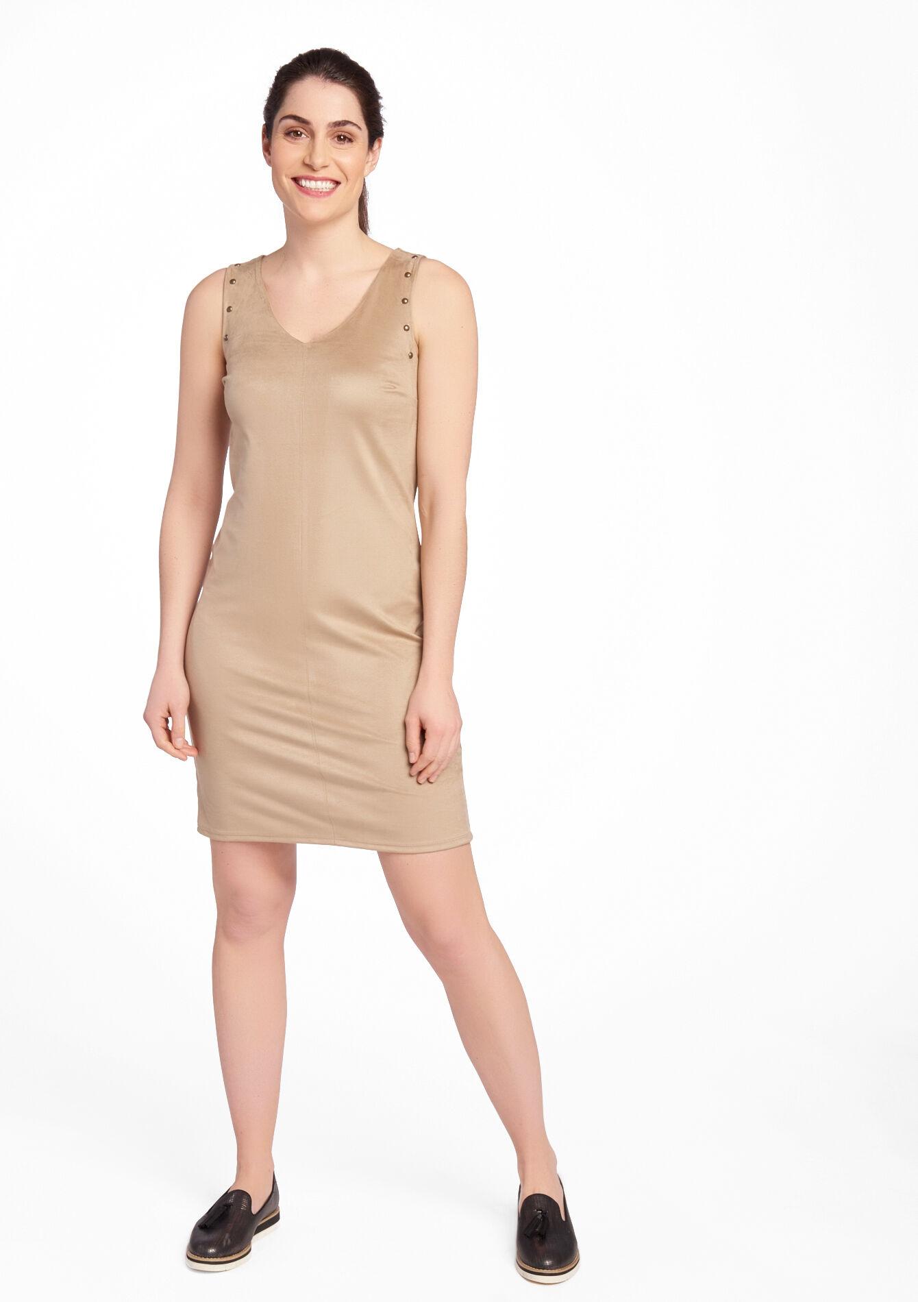 imitatie suede jurk