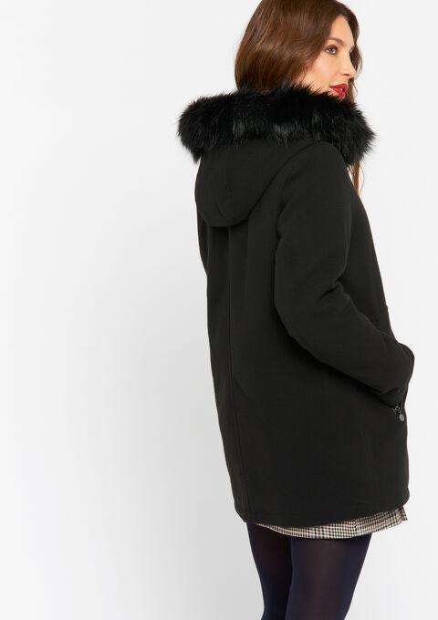 Midi mantel - BLACK - 23000142_1119