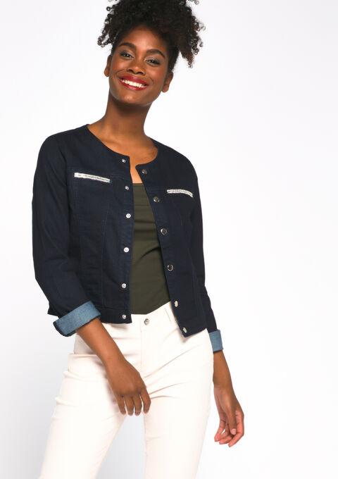 Veste en jeans - DARK BLUE JEANS - 09100165_92