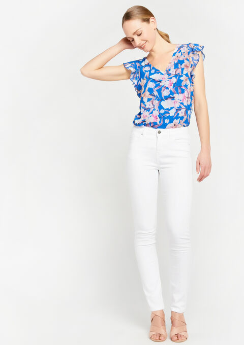 Skinny basique, 5 poches - OPTICAL WHITE - 06003784_1019