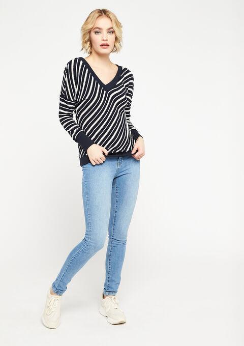 Striped sweatshirt with lurex - NAVY HEAVEN - 03001473_2711