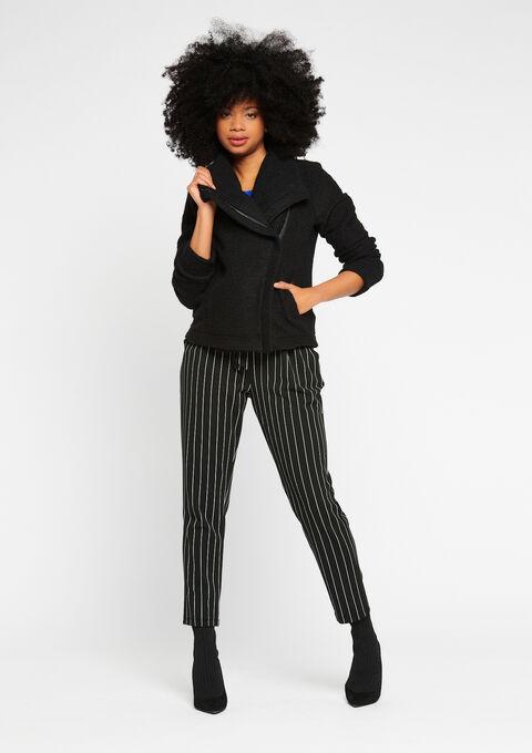 Jasje in perfecto stijl, wol - BLACK - 931701