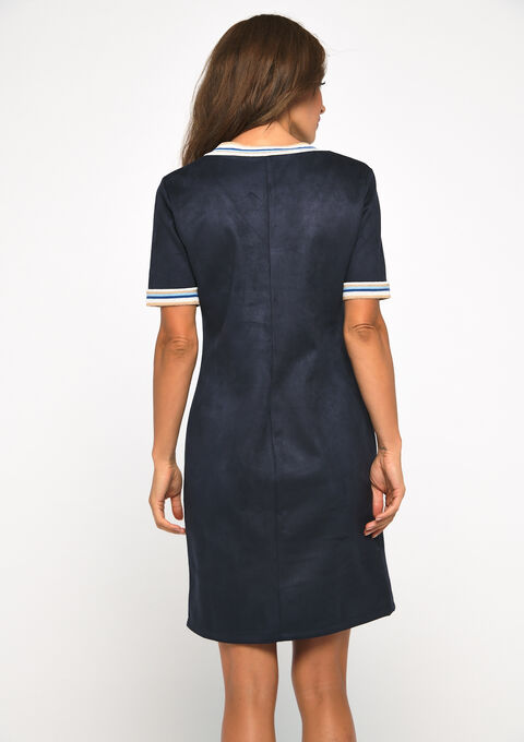 Robe suédine - NAVY BLUE - 08101594_1651