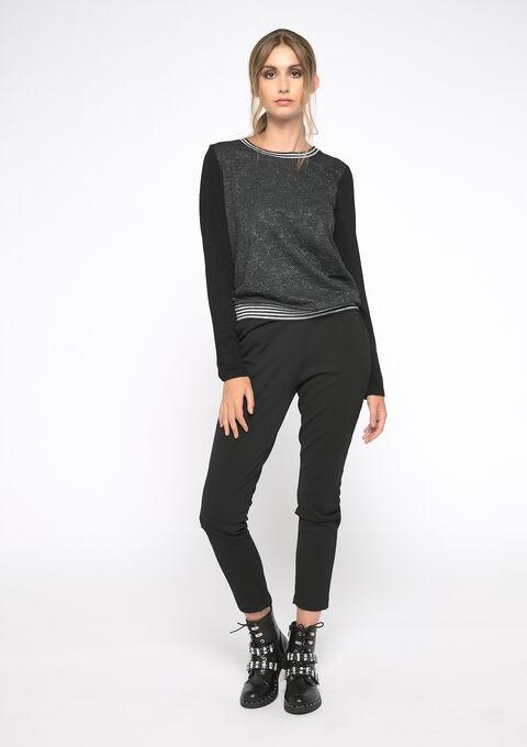 Jacquard sweater - BLACK - 03001418_1119