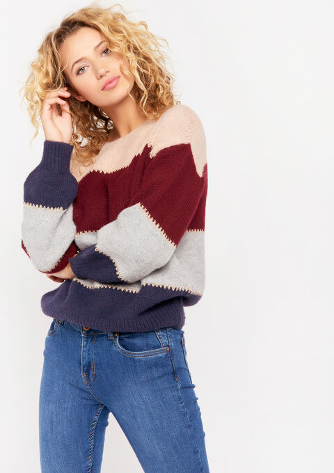 Pull color block - SMOOKY GREY - 04004916_3510