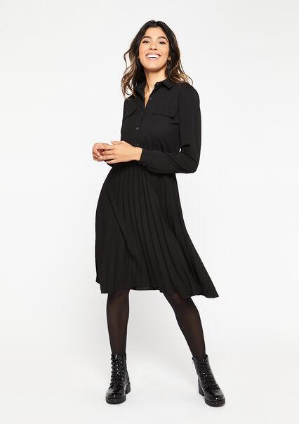 Shirt dress - BLACK - 08102122_1119