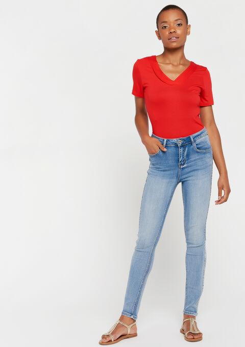 Effen korte mouwen t-shirt - REAL RED - 945376