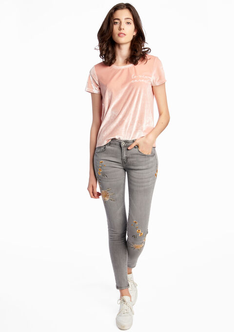 Jeans avec broderie - LIGHT GREY - 06003232_504