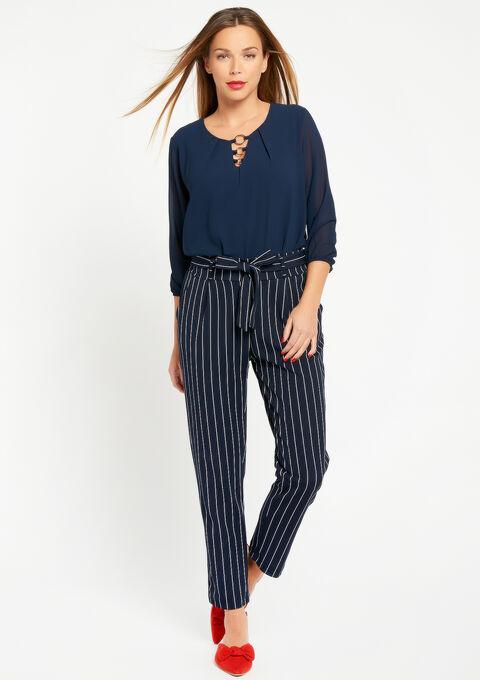 Effen blouse met 3 ringen - NAVY HEAVEN - 05700216_2711