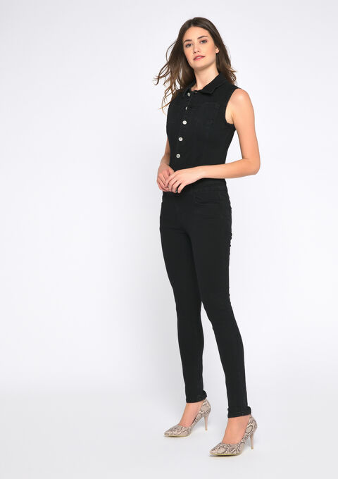 Jumpsuit in jeans - BLACK - 22000145_1119