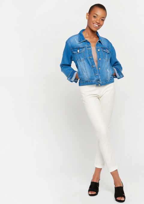 Veste en jeans - LIGHT BLUE - 09100248_1709
