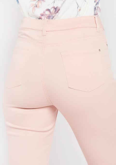Slim fit broek met enkel-rits - PINK CALM - 06003788_4102