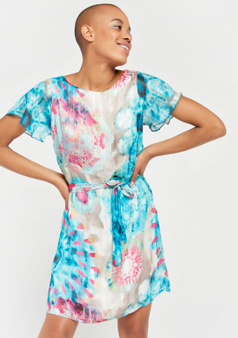 Dip dye jurk - BLUE CAPRI - 08100749_1767