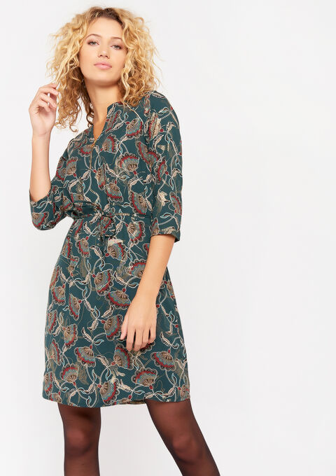 Robe imprimé irisé - DEEP TEAL - 08101603_1592