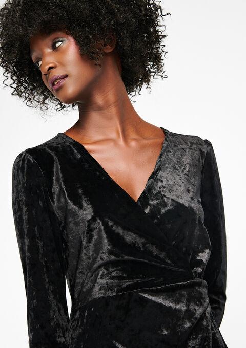 Maxi-jurk met cache-cœur - BLACK - 08600079_1119