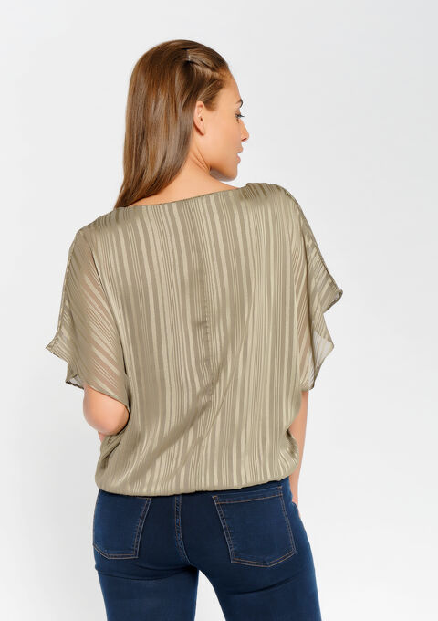 Blouse met halsketting - KHAKI DARKY - 944694