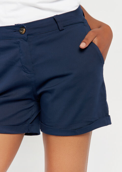 Chino shorts - NAVY SHADOW - 06100216_2713