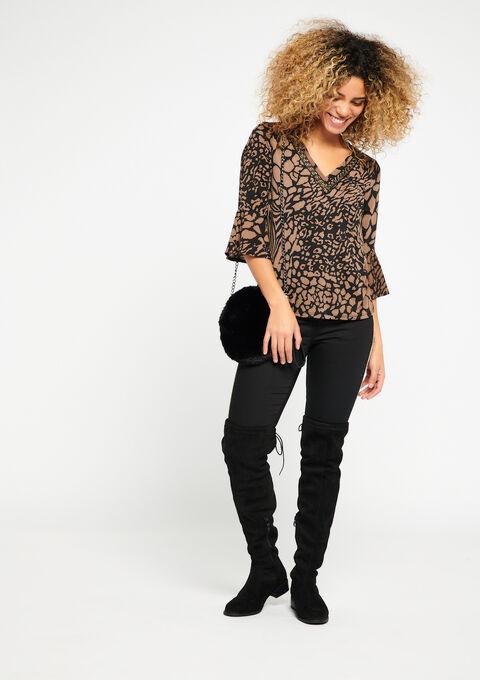 c41568de ... T-shirt with giraffe print - TRUE TAUPE - 02300102_1043 ...