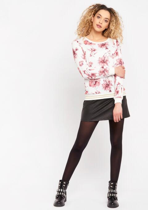 Sweater met bloemenprint - NATURAL WHITE - 03001488_2510